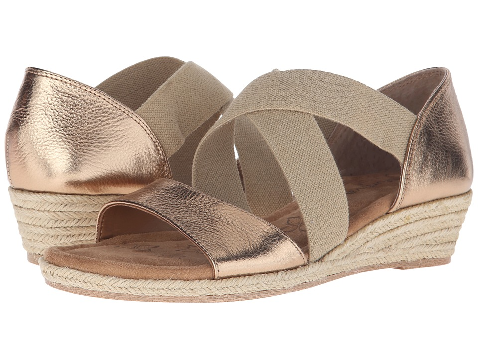 Comfortiva - Brye (Gold Rush Cow Metallic) Women's Wedge Shoes