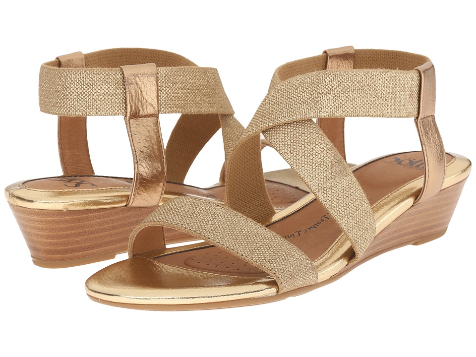 Sofft - Imala (Gold Rush Cow Metallic/Cotton Foil Elastic) Women's Wedge Shoes