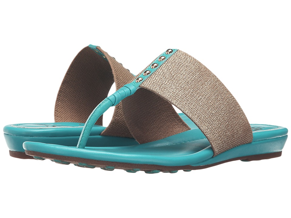 Sofft - Ameda (Turquoise M-Vege/Cotton Foil Elastic) Women's Sandals