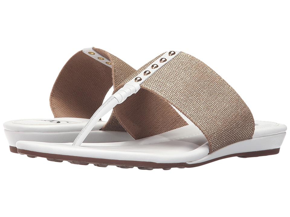 Sofft - Ameda (White M-Vege/Cotton Foil Elastic) Women's Sandals