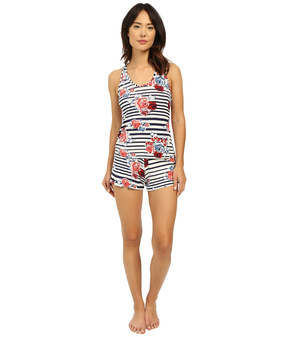 Hanky Panky - Nautical Rose Sleep Set (Navy Blue/White) Women's Pajama Sets
