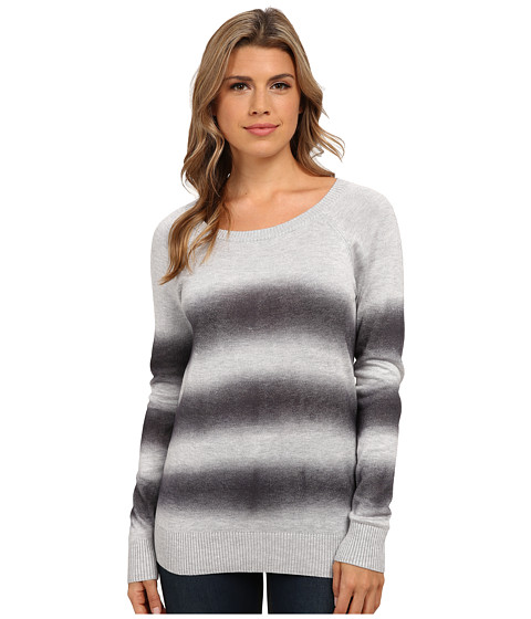 Olive & Oak - Long Sleeve Ombre Striped Sweater (Granite) Women's Sweater
