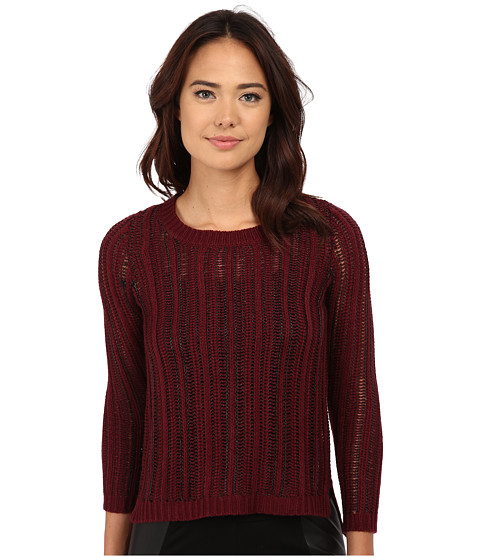 Olive & Oak - Hi-Lo Open Sweater (Cabernet) Women