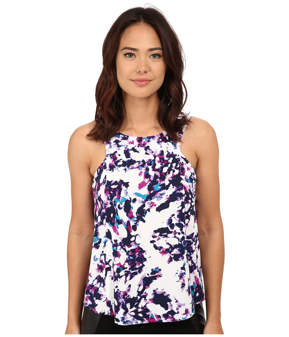 Olive & Oak - Multi Print Top (Lavendar Cloud Multi) Women's Clothing