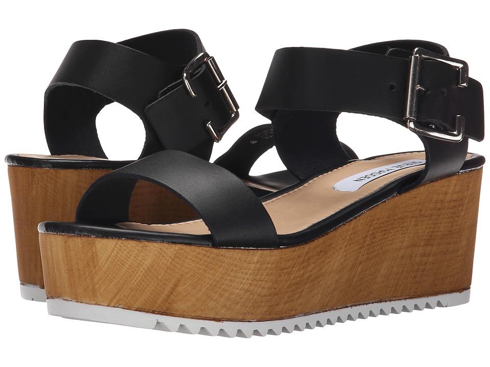 Steve Madden - Nylee (Black Leather) Women's Sandals