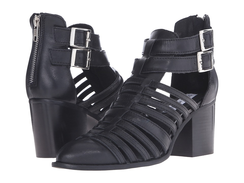 Steve Madden - Frenchey (Black Leather) High Heels