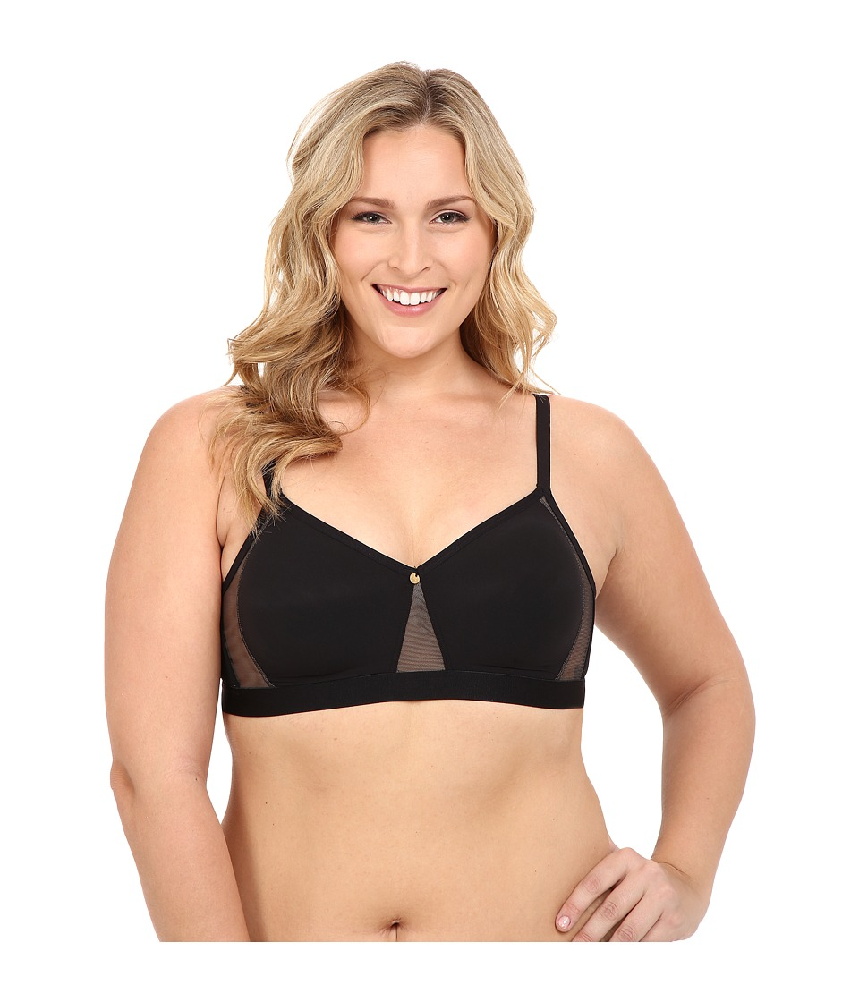 Natori - Glance Full Figure Convertible Soft Cup 739125 (Black/Caf ) Women's Bra