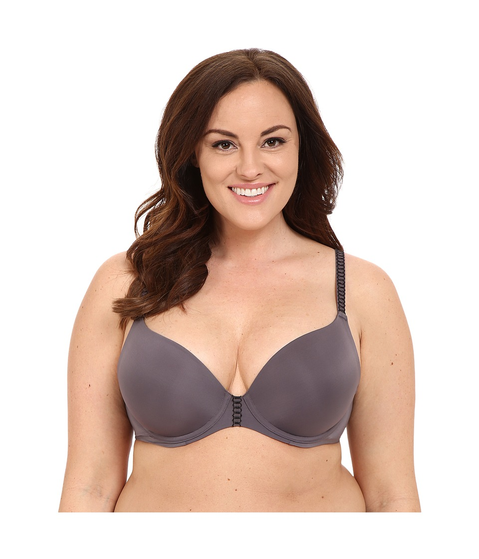 Natori - Ultra Light Full Figure Ultra Light Contour 732124 (Gunmetal Combo) Women's Bra