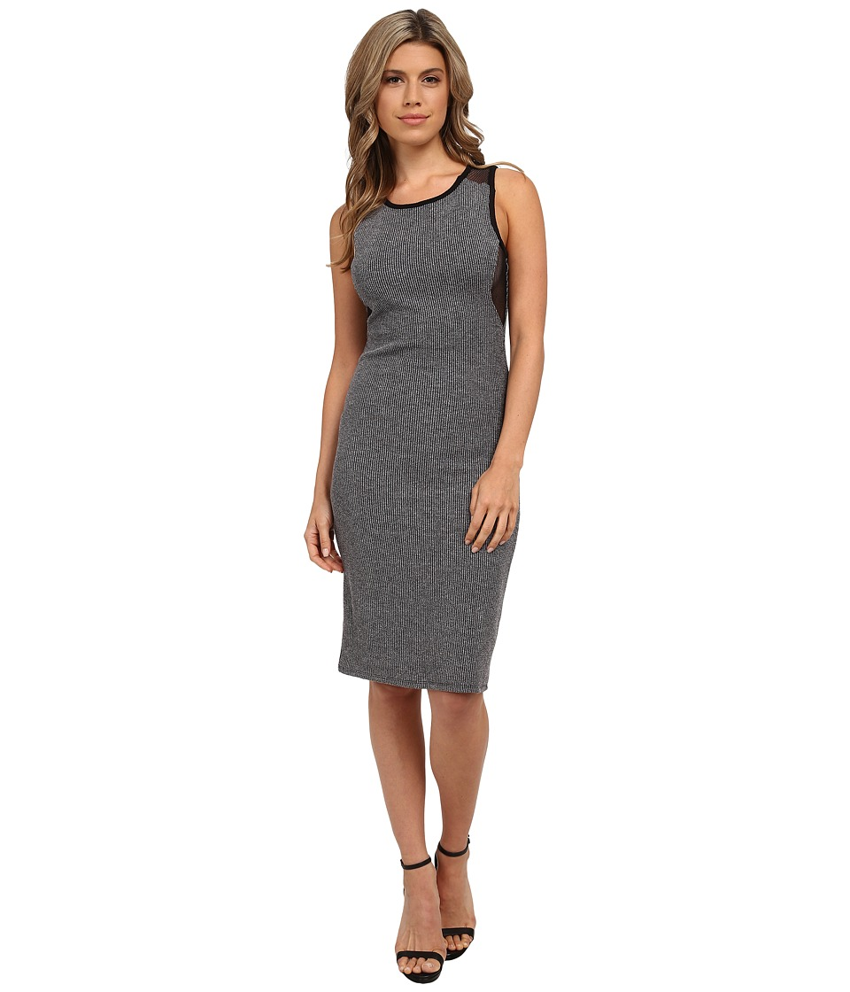 Olive & Oak - Mesh Back Knit Dress (Dark Heather Grey) Women