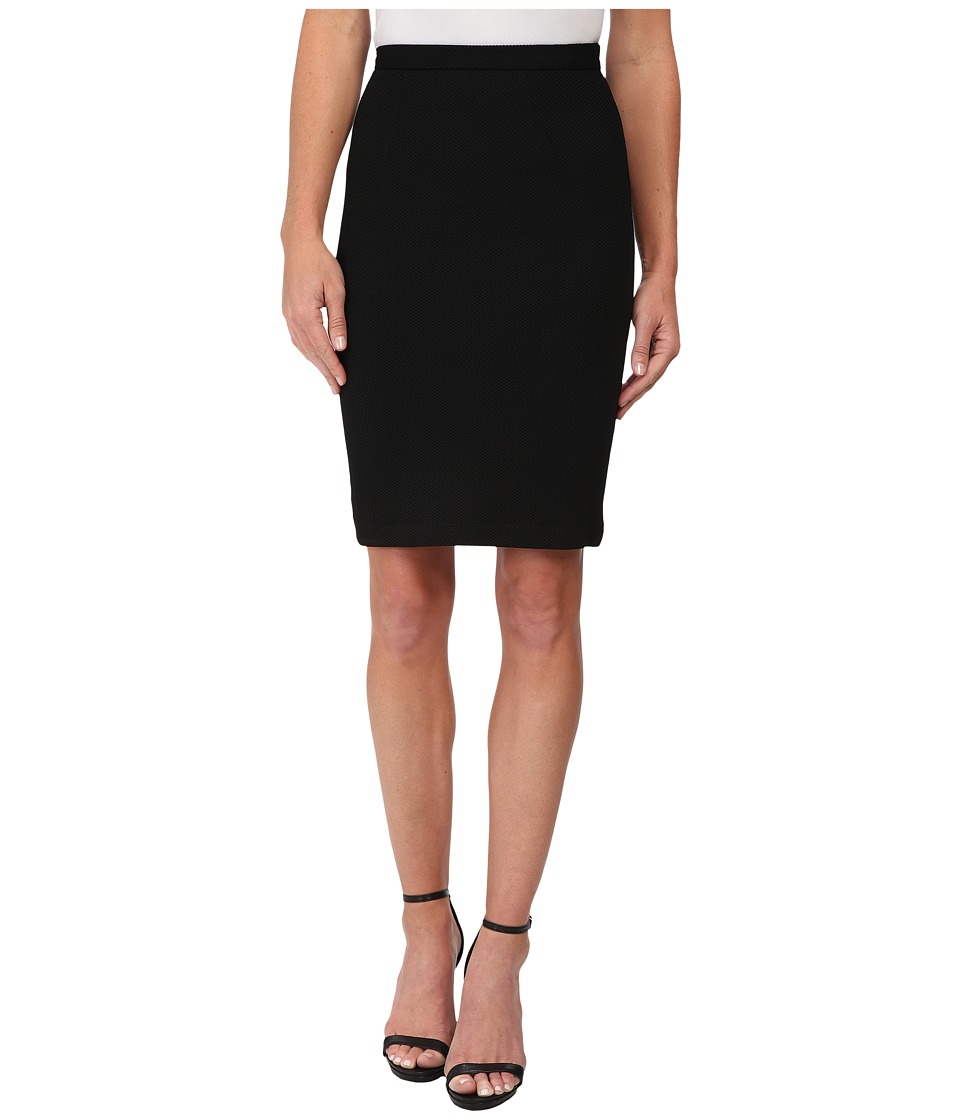 Olive & Oak - Ponte Pencil Skirt (Black) Women