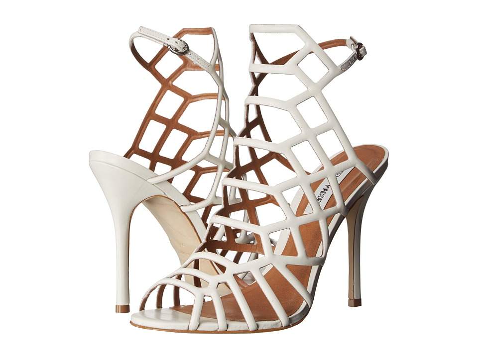 Steve Madden - Slithur (White Leather) High Heels
