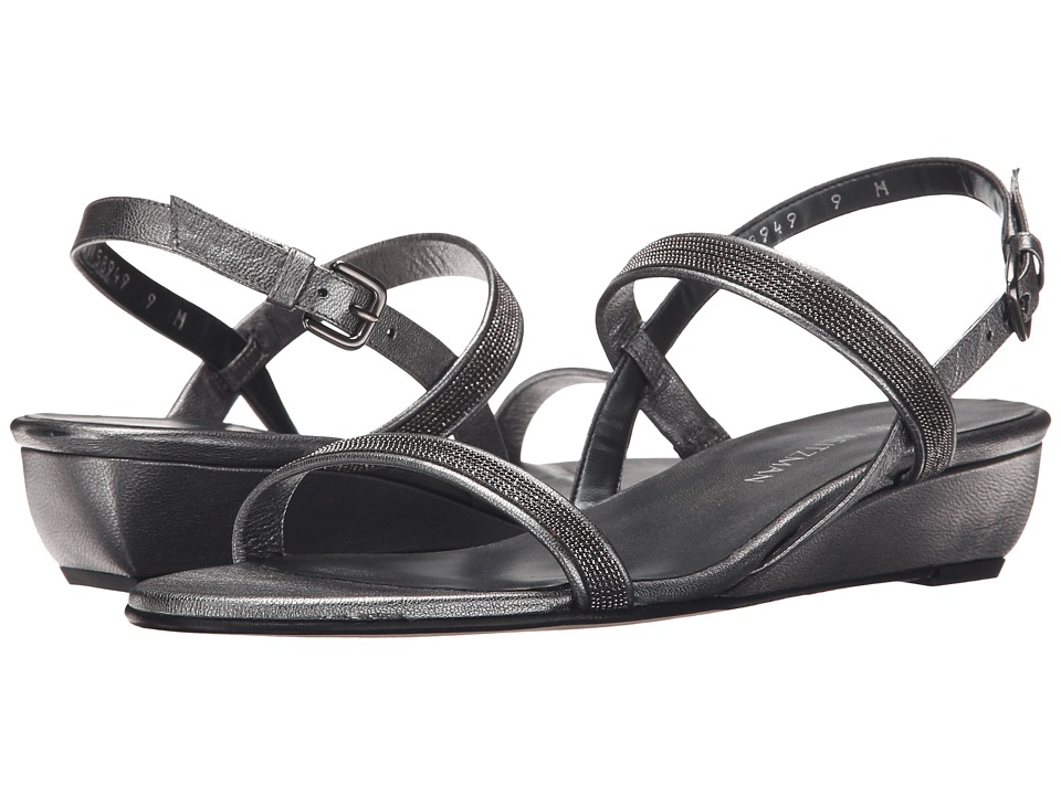 Stuart Weitzman - Inchains (Iron Washed Nappa) Women's Dress Sandals