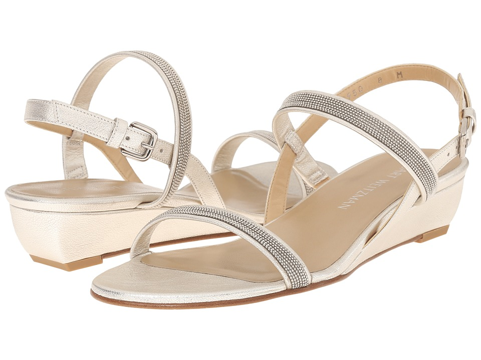Stuart Weitzman - Inchains (Pearl Washed Nappa) Women's Dress Sandals