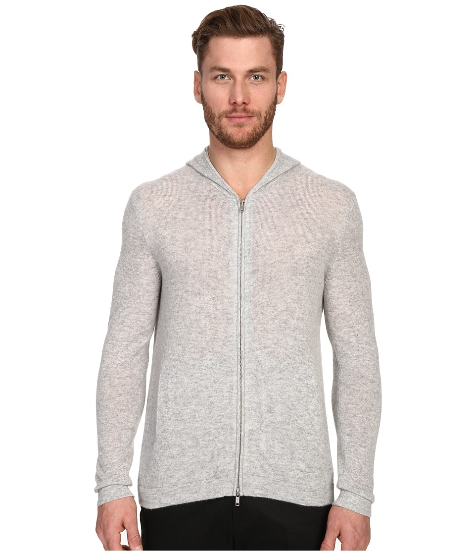 Theory - Kamero.Cashmere Hoodie (Foam Heather) Men's Sweatshirt