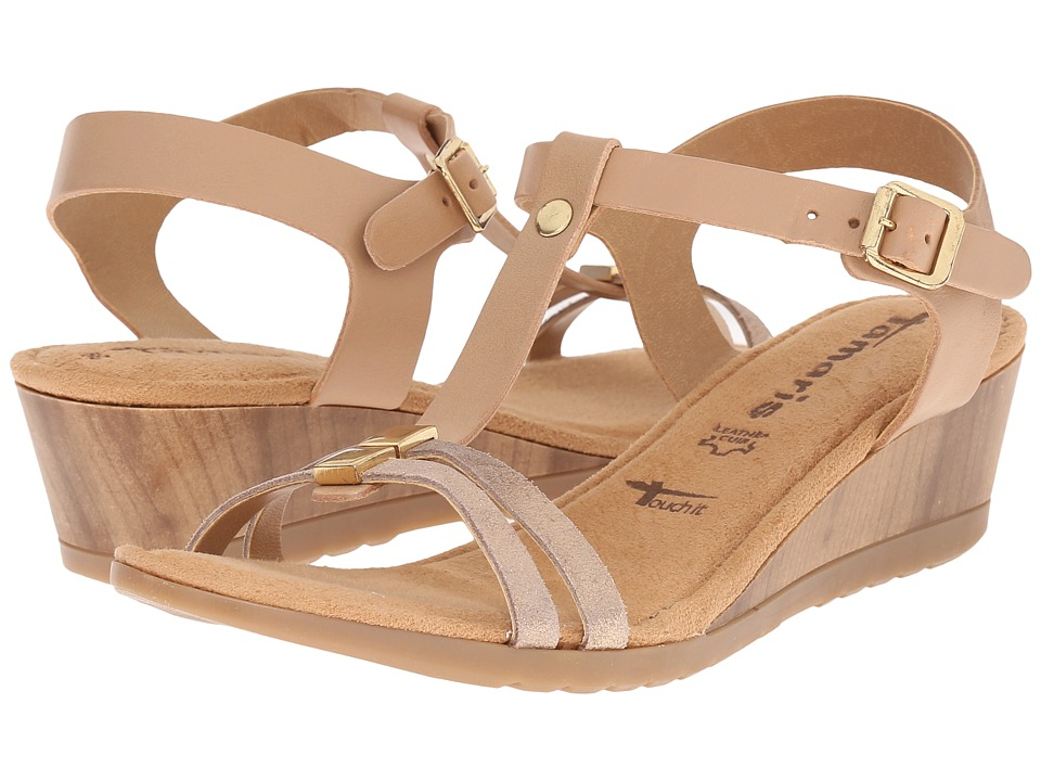 Tamaris - Zeyla 28213-26 (Nature/Light Gold) Women's Shoes