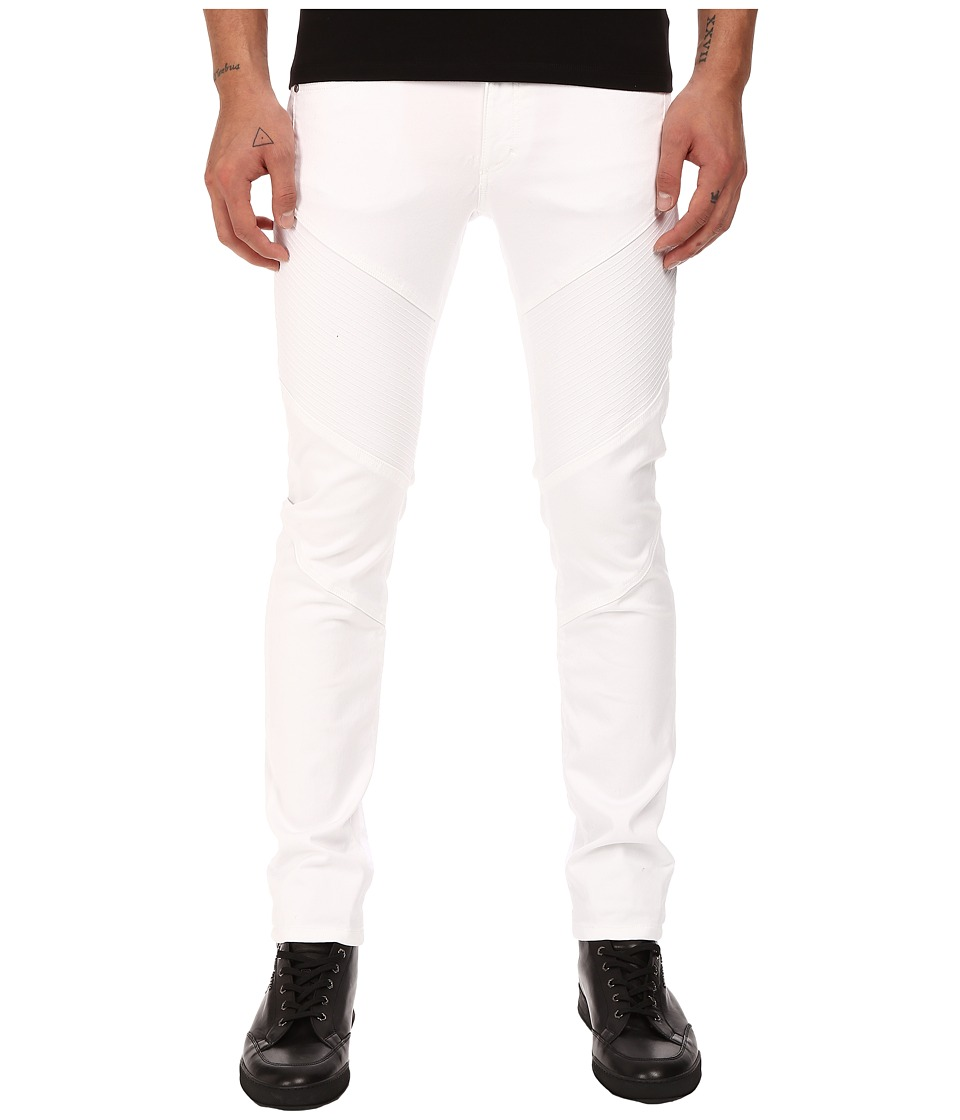 Versace Collection - Stretch Motor Panel Pants (White) Men's Casual Pants