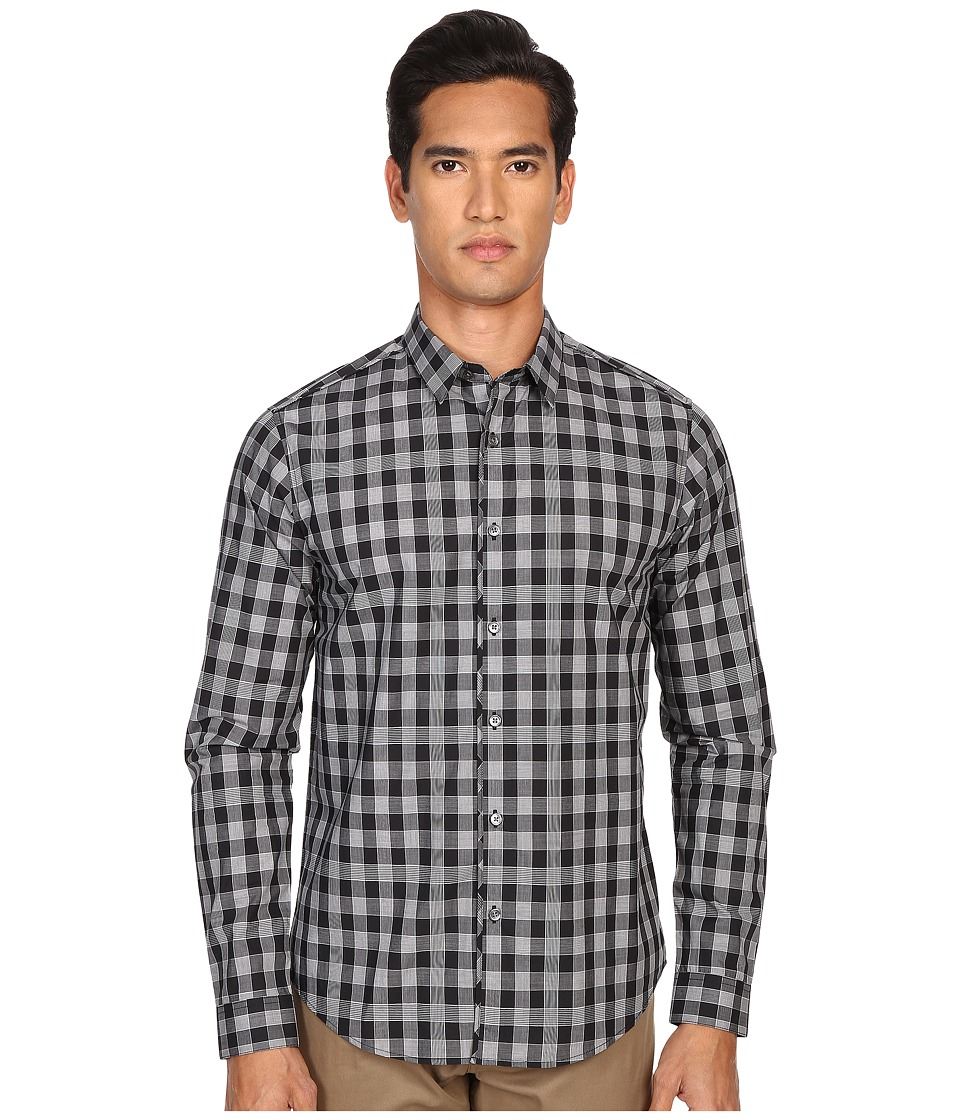 Theory - Benner.Edgeworth Button Up (Black Multi) Men's Long Sleeve Button Up