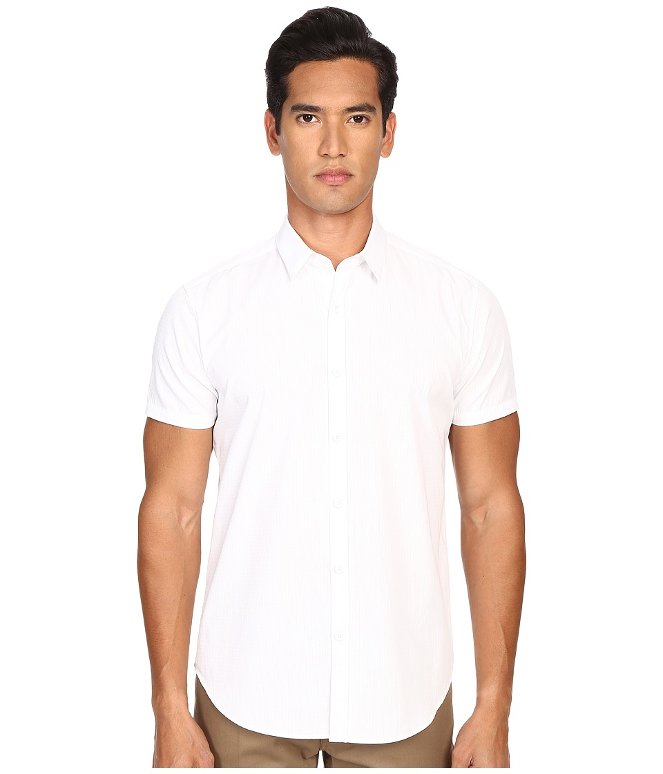 Theory - Zack PS S.Norwich Button Up (White) Men's Short Sleeve Button Up