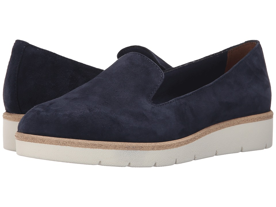 Tamaris - Jetta 24300-26 (Navy Suede) Women's Slip on Shoes