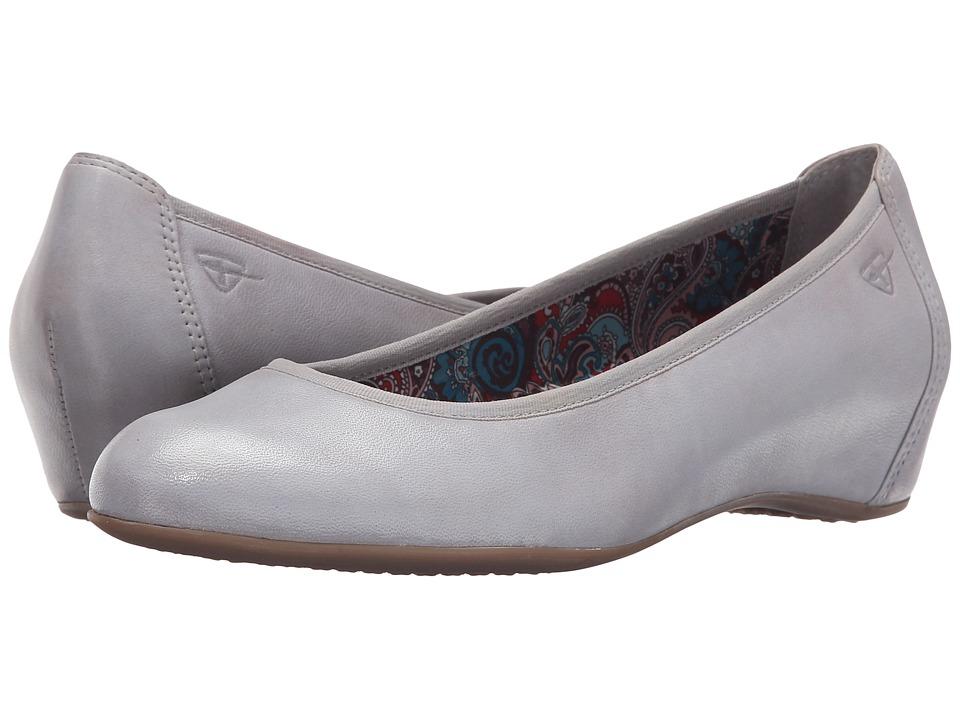 Tamaris - Lula 22421-26 (Cloud) Women's Wedge Shoes