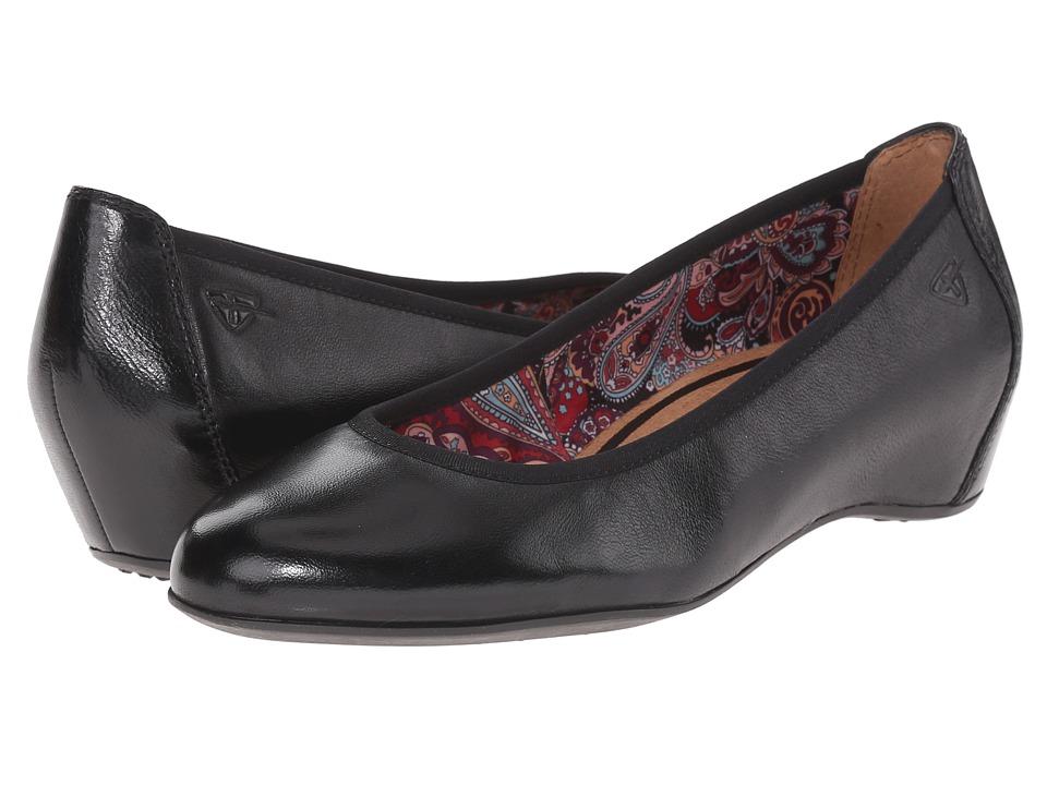 Tamaris - Lula 22421-26 (Black) Women's Wedge Shoes