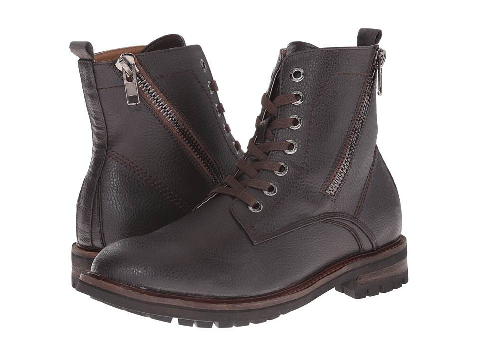 GUESS - Ramsey (Brown) Men's Lace-up Boots
