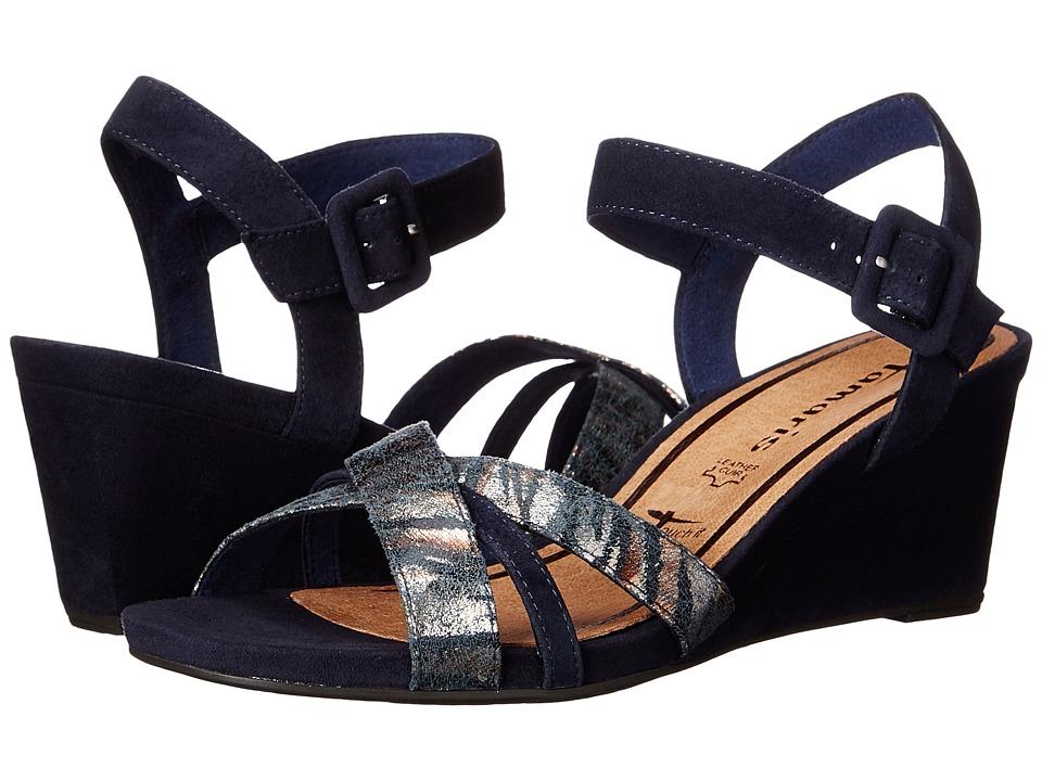Tamaris - Inex 28301-26 (Navy Combo) Women's Shoes