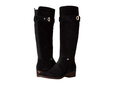 Tommy Hilfiger - Gallop (Black Suede) Women's Zip Boots