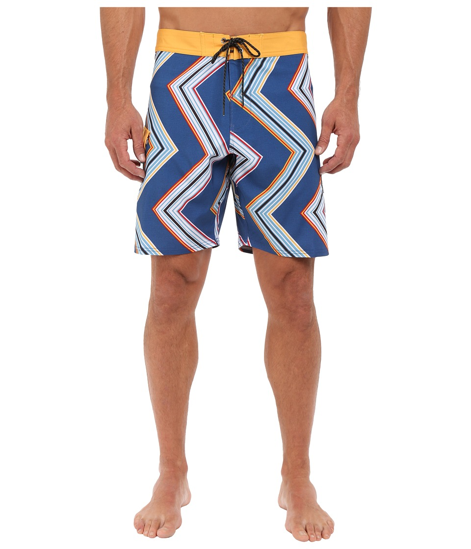 VISSLA - Raised by Waves 4-Way Stretch Boardshorts 18.5 (Royal) Men's Swimwear