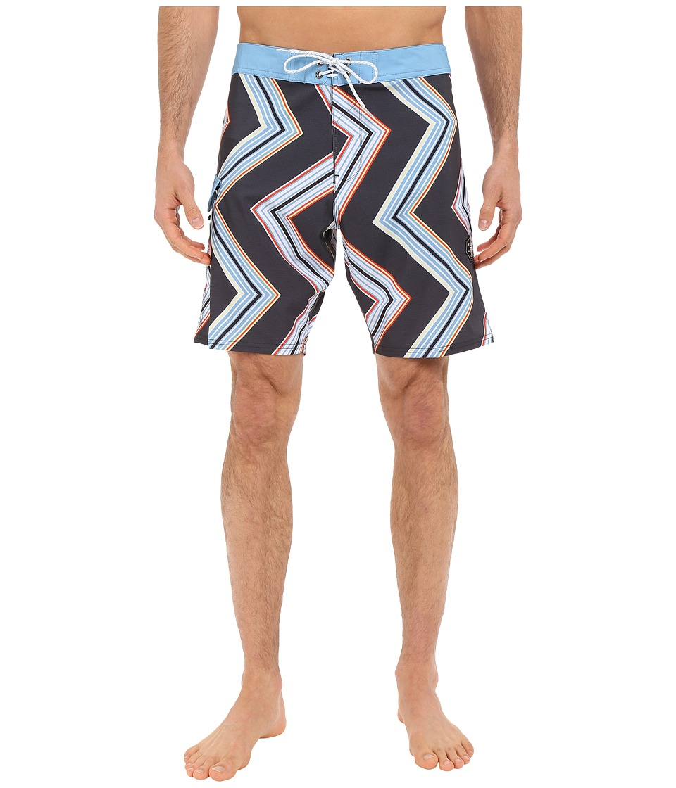 VISSLA - Raised by Waves 4-Way Stretch Boardshorts 18.5 (Black) Men's Swimwear