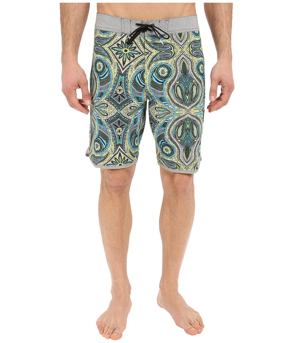 VISSLA - Mystery Reef 4-Way Stretch Boardshorts 20 (Bright Sulfur) Men's Swimwear