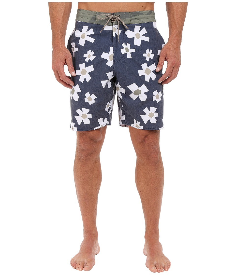 VISSLA - Outer Pools 4-Way Stretch Boardshorts 18.5 (Dark Navy) Men's Swimwear