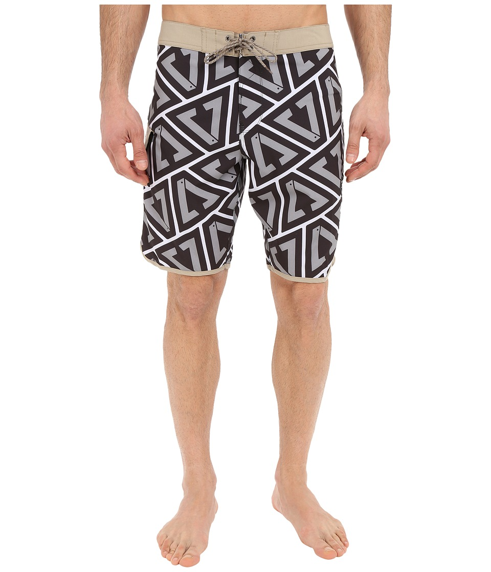 VISSLA - Calipher 4-Way Stretch Boardshorts 20 (Grey) Men's Swimwear