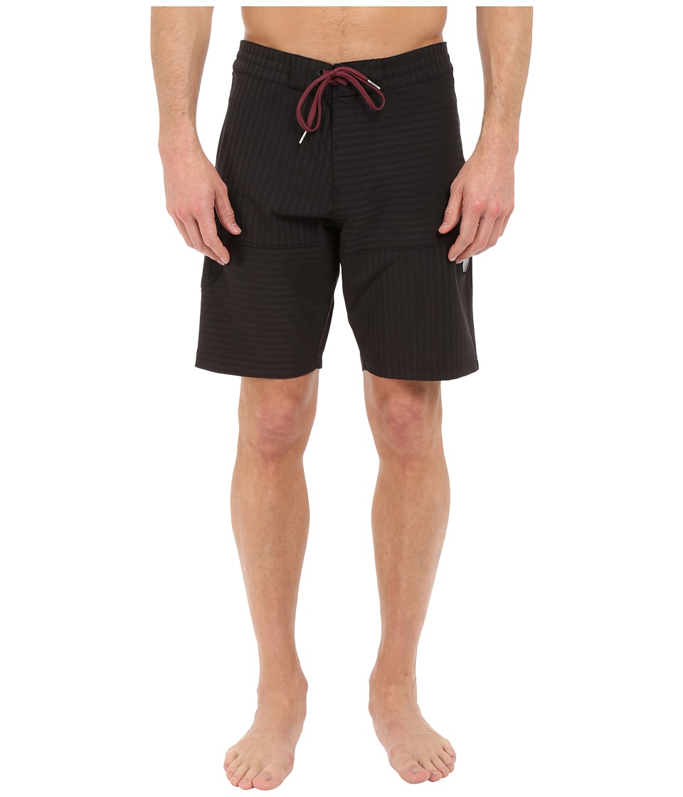VISSLA - Cape Cross 4-Way Stretch Boardshorts 20 (Black) Men's Swimwear