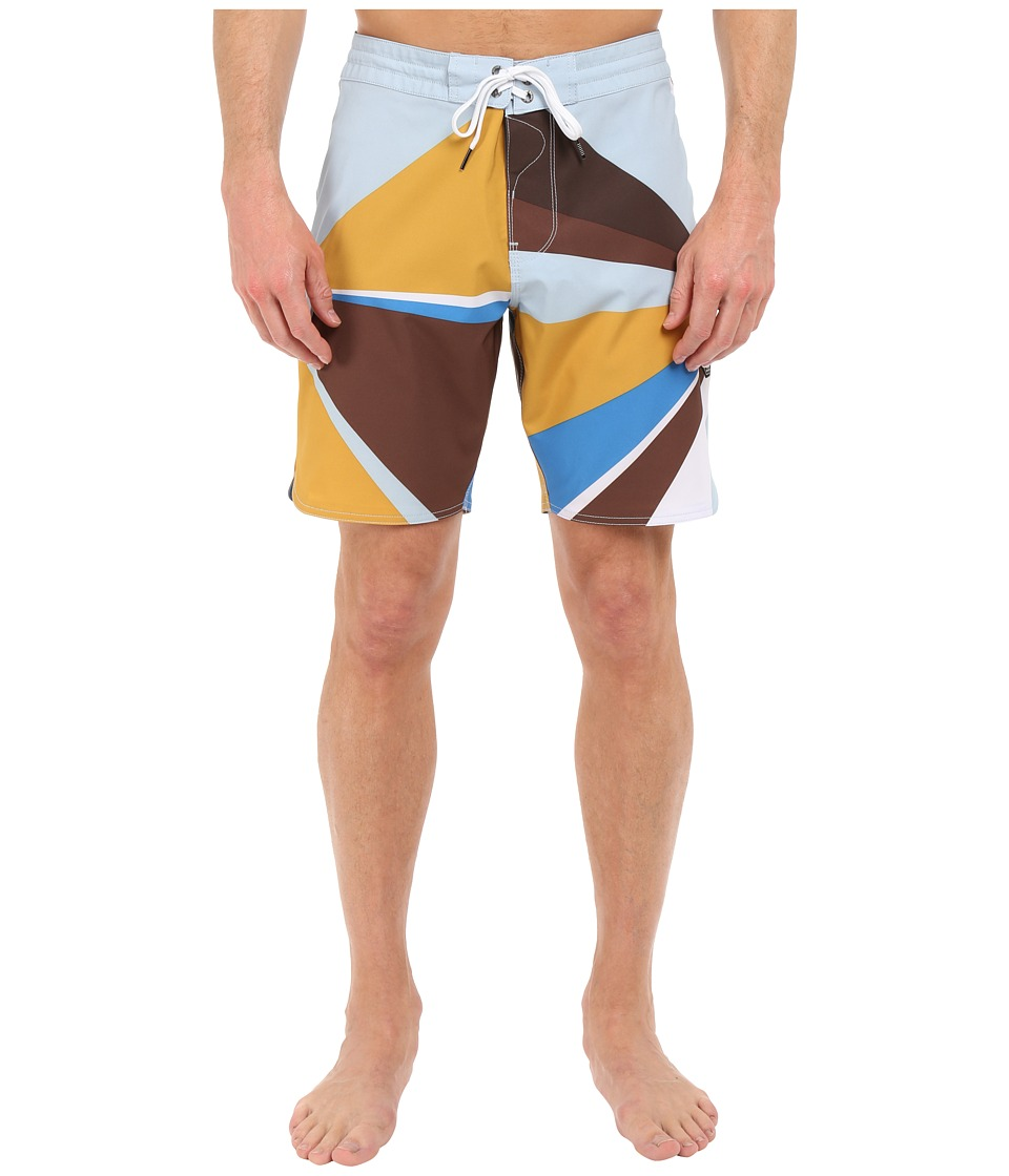 VISSLA - Sun Rey 4-Way Stretch Boardshorts 18.5 (Dark Brown) Men's Swimwear