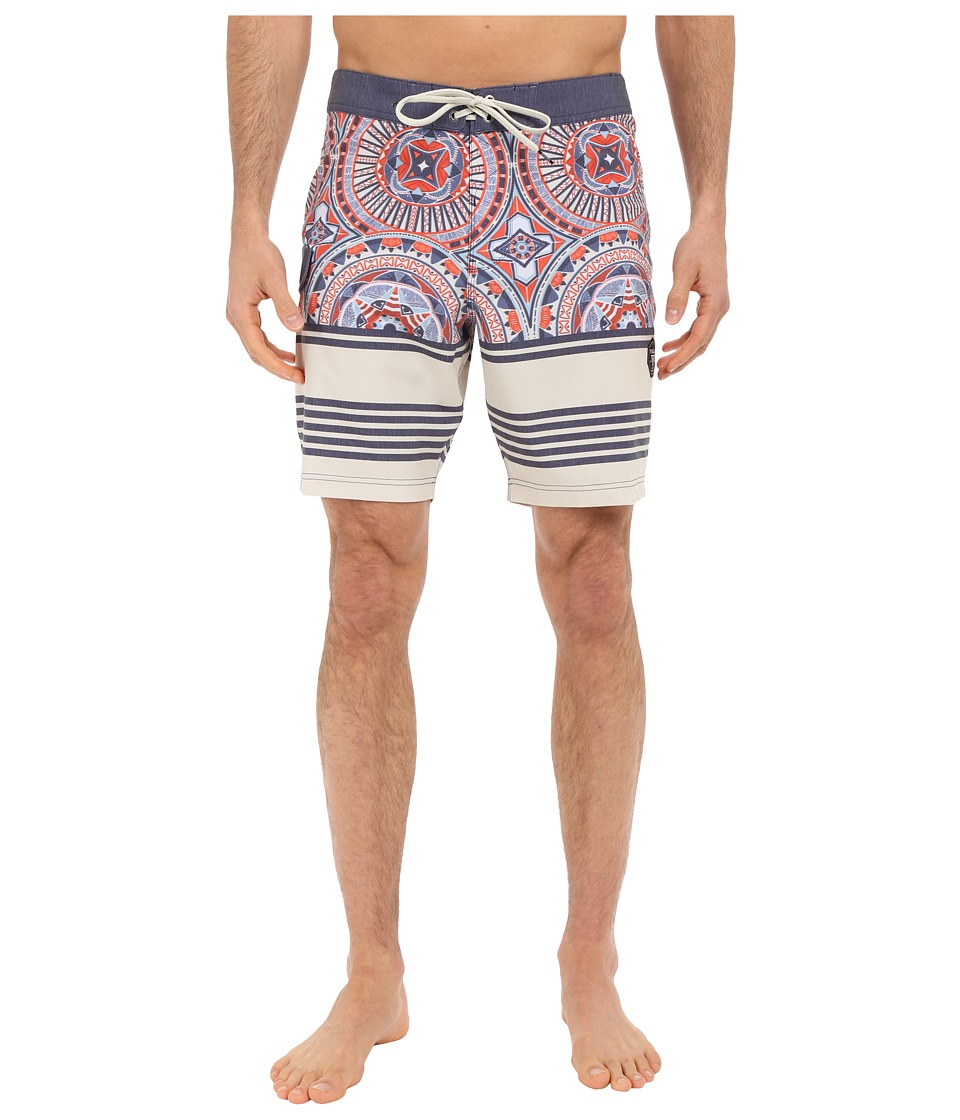 VISSLA - Suicide Reef 4-Way Stretch Boardshorts 18.5 (Dark Navy) Men's Swimwear