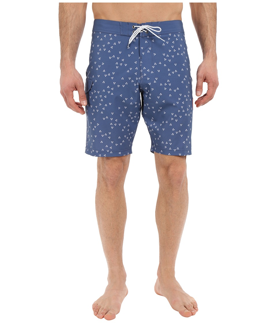 VISSLA - Magnatubes 4-Way Stretch Boardshorts 20 (Light Navy) Men's Swimwear