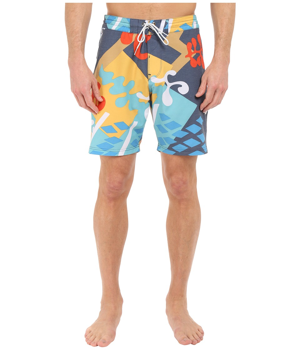 VISSLA - Cut Up Boardshorts 4-Way Stretch 18.5 (Navy) Men's Swimwear