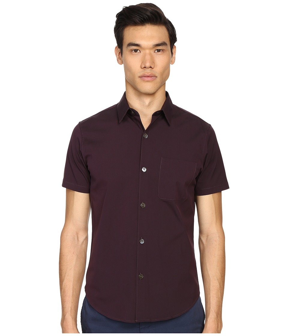 Theory - Rammis S.Ostend Button Up (Deep Rouge) Men's Clothing