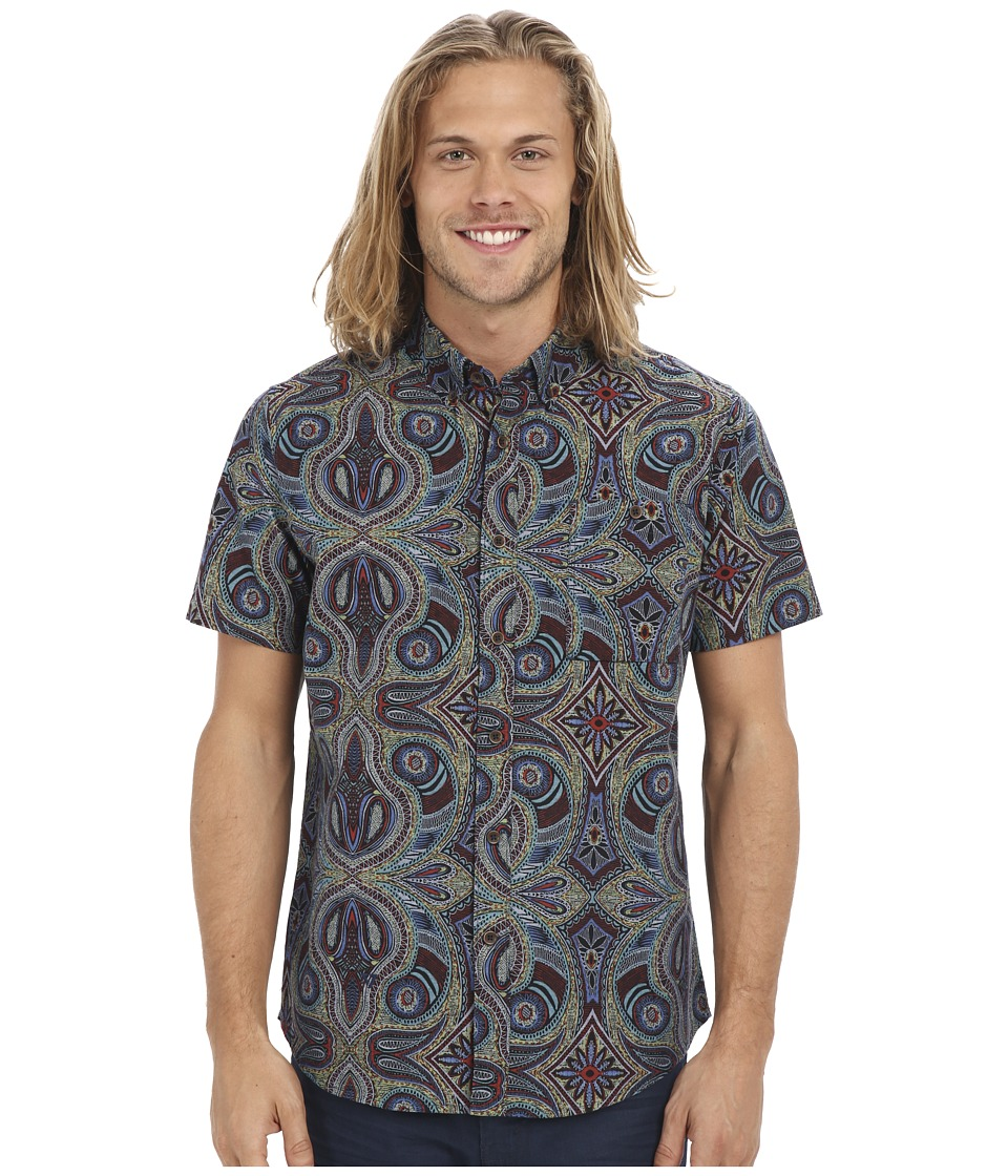 VISSLA - Mystery Reef Short Sleeve Woven (Jade) Men's Clothing