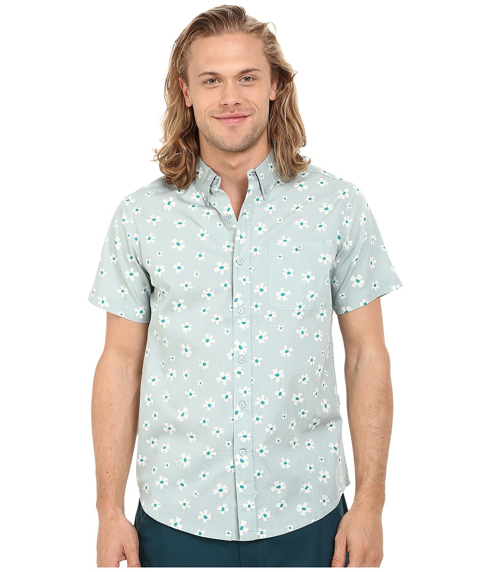 VISSLA - Outer Pool Short Sleeve Woven (Agave) Men's Clothing