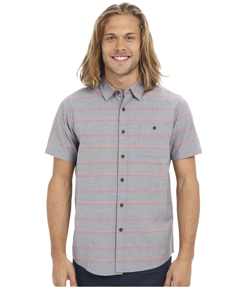 VISSLA - Zuma Short Sleeve Woven (Dark Slate) Men's Clothing