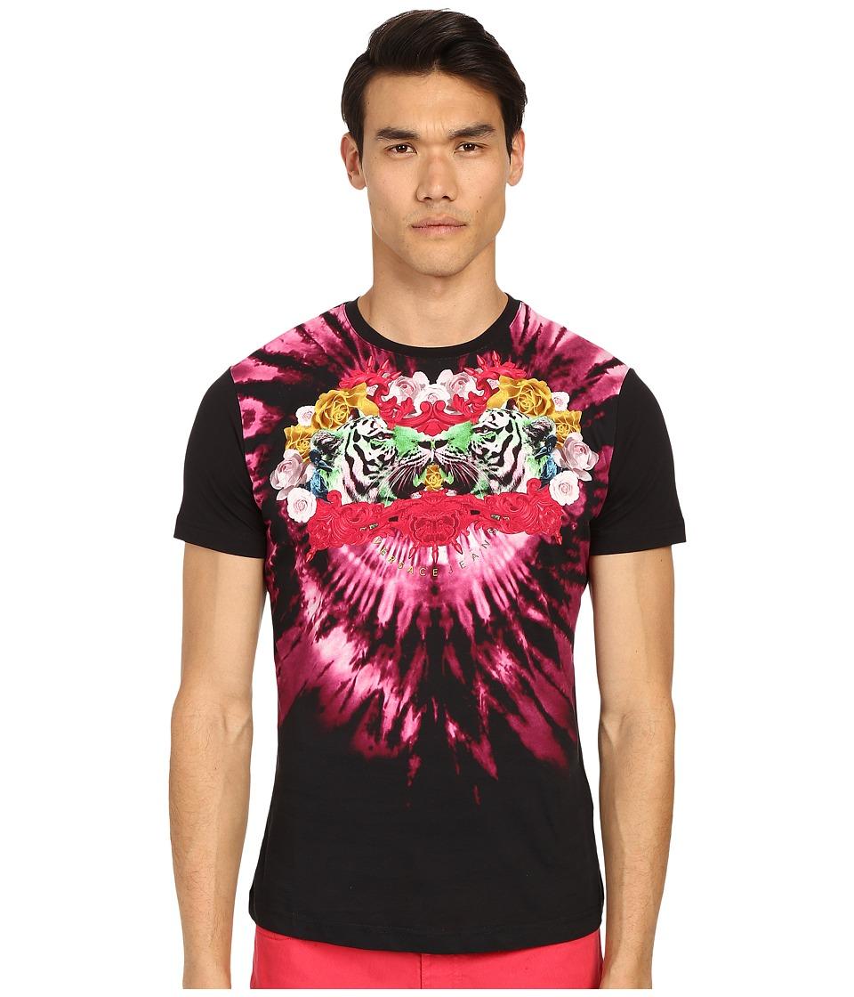 Versace Jeans - Psychadelic Tie-Dye T-Shirt (Black) Men