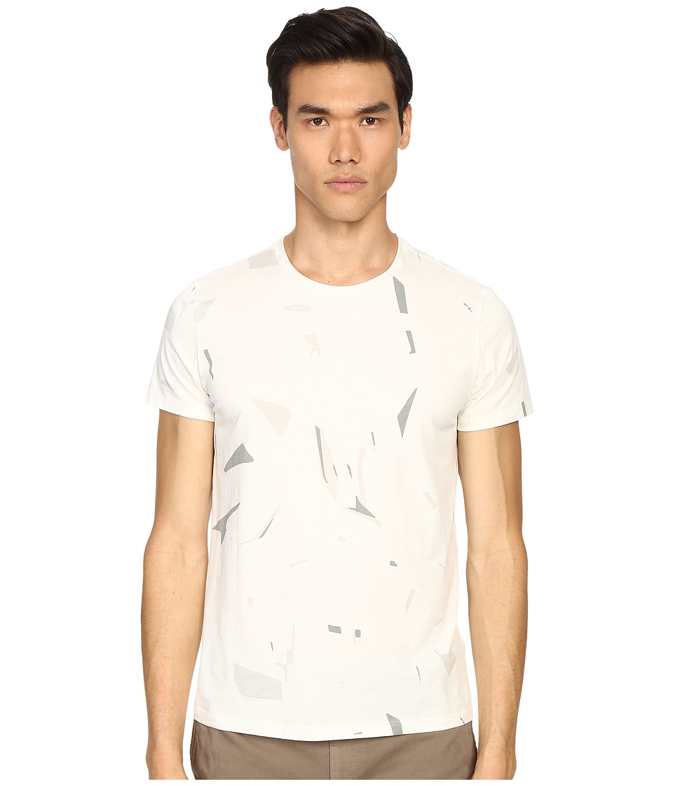 Theory - Marcelo.Shatter Jersey T-Shirt (Off-White) Men's T Shirt