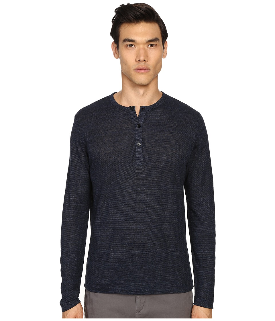 Theory - Arlee L.Zephyr Wash Henley (Outer/Black) Men's Clothing
