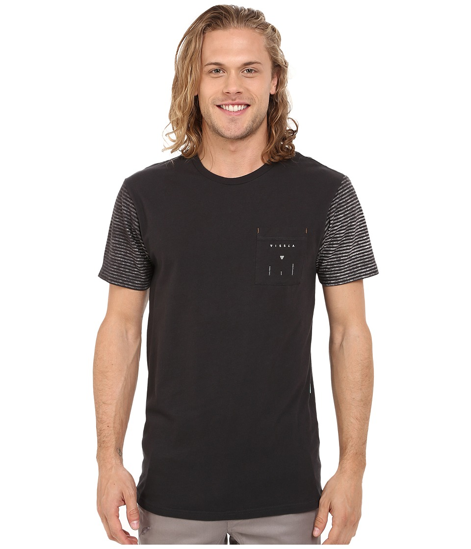 VISSLA - Wrecker Pocket Tee (Phantom) Men's T Shirt