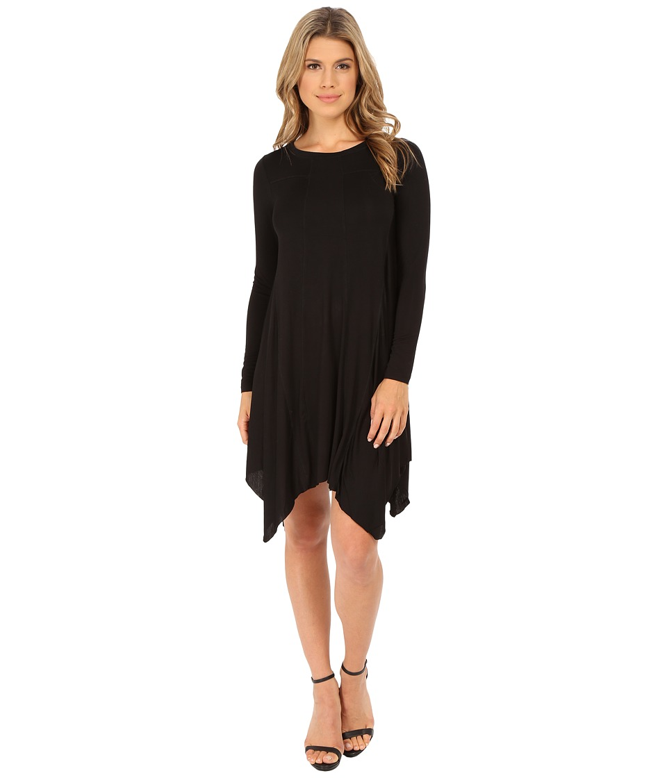 Olive & Oak - Long Sleeve Knit Dress (Black) Women's Dress
