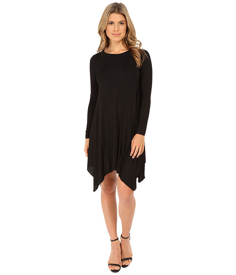 Olive & Oak - Long Sleeve Knit Dress (Black) Women