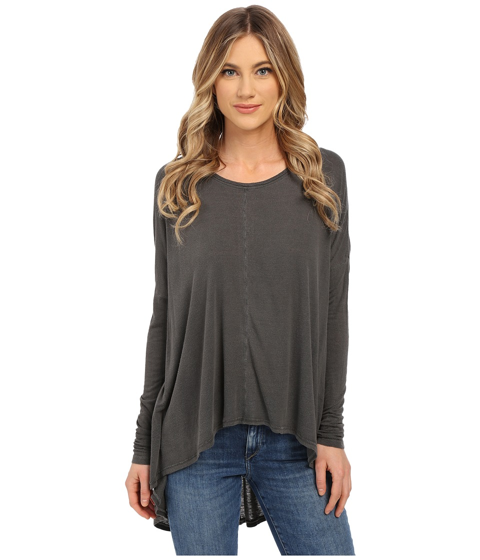 Amuse Society - Lyra Knit Long Sleeve (Charcoal) Women's Long Sleeve Pullover