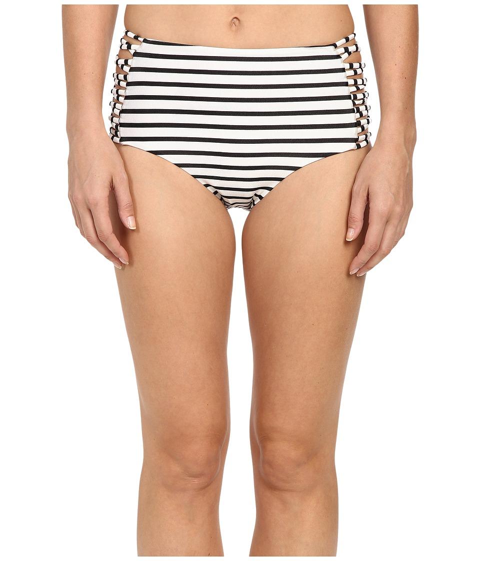 Amuse Society - Sola Stripe High Rise Cheeky Bottom (Casa Blanca) Women's Swimwear